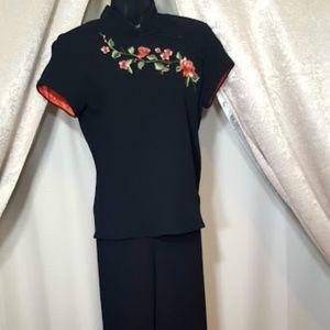 S.L. Fashion Petitie Sz 8P Mandarin Collar outfit